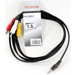Кабель 3.5 Jack (M) - 3хRCA (M) 1.5m (Telecom TAV4545-1.5M) (черный) - Кабель, переходник для TV и видео