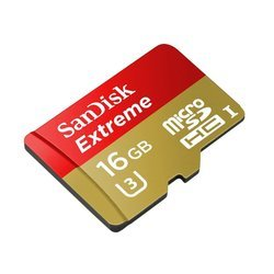 карта памяти microsdhc sandisk extreme 16gb class10 + sd adapter (sdsqxne-016g-gn6ma)