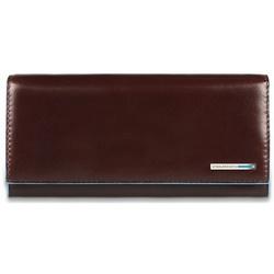 Портмоне Piquadro PD3211B2/MO (красно-коричневый) - КожаКожа<br>Женское портмоне на кнопке из натуральной кожи. Отделения для купюр, кредитных карт и отделение для мелочи на молнии.