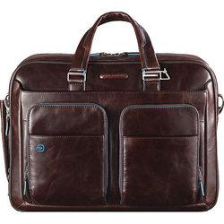 Сумка Piquadro Blue Square (CA2849B2/MO) (коричневый) - КожаКожа<br>В этой сумке поместятся все вещи, необходимые для работы/учёбы (в том числе ноутбук). А ещё много сопутствующих аксессуаров, ведь не зря же она «оснащена» тремя боковыми карманами на молнии.