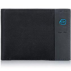 Кошелек мужской Piquadro Pulse (PU257P15/N) (черный) - КожаКожа<br>Мужское горизонтальное портмоне Piquadro выполнено из черной телячьей кожи. Портмоне имеет два отделения для купюр, карманы для кредитных/визитных карт, монетницу на кнопке и дополнительный внутренний карман.