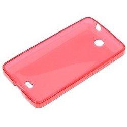Силиконовый чехол-накладка для Microsoft Lumia 430 (iBox Crystal YT000007521) (красный) - Чехол для телефонаЧехлы для мобильных телефонов<br>Чехол плотно облегает корпус и гарантирует надежную защиту от царапин и потертостей.
