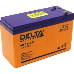 Батарея Delta HR12-7.2 (12V 7.2Ah) - Батарея для ибпАккумуляторные батареи<br>Delta HR12-7.2 - свинцово-кислотный аккумулятор, напряжение - 12V, емкость - 7.2Ah, 151 х 100 х 65 мм, клеммы F2