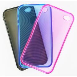 Чехол-накладка для Apple iPhone 4, 4S (CD014742) (черный) - Чехол для телефонаЧехлы для мобильных телефонов<br>Чехол плотно облегает корпус и гарантирует надежную защиту от царапин и потертостей.