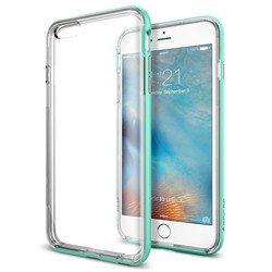 Чехол накладка для Apple iPhone 6 Plus, 6S Plus (Spigen Neo Hybrid EX SGP11672) (мятный) - Чехол для телефонаЧехлы для мобильных телефонов<br>Чехол-накладка Spigen обеспечит защиту телефона от царапин, потертостей и других нежелательных внешних воздействий.