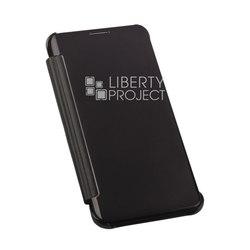 Чехол-книжка для Samsung Galaxy S6 Edge Plus (0L-00002645) (черный полупрозрачный) - Чехол для телефонаЧехлы для мобильных телефонов<br>Чехол плотно облегает корпус и гарантирует надежную защиту от царапин и потертостей.