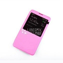 Чехол-книжка для Samsung Galaxy S6 Edge Plus (0L-00002652) (розовый) - Чехол для телефонаЧехлы для мобильных телефонов<br>Чехол плотно облегает корпус и гарантирует надежную защиту от царапин и потертостей.