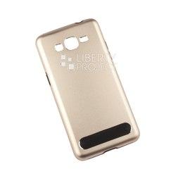 Алюминиевый чехол-накладка для Samsung Galaxy Grand Prime G530 (0L-00002772) (золотистый) - Чехол для телефонаЧехлы для мобильных телефонов<br>Чехол плотно облегает корпус и гарантирует надежную защиту от царапин и потертостей.