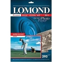 Фотобумага суперглянцевая A3 (20 листов) (Lomond 1108102)  - БумагаОбычная, фотобумага, термобумага для принтеров<br>Фотобумага предназначена для высококачественной печати с максимальным разрешением.