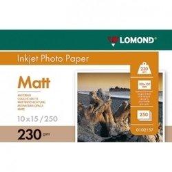Фотобумага матовая 10 х 15 см (250 листов) (Lomond 0102157)  - БумагаОбычная, фотобумага, термобумага для принтеров<br>Фотобумага предназначена для высококачественной печати с максимальным разрешением.