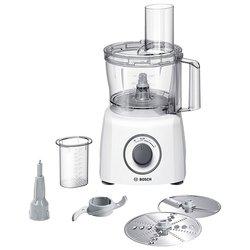 Кухонный комбайн Bosch MCM 3110 (белый) - Кухонный комбайн, измельчительКухонные комбайны и измельчители<br>Комбайн, мощность 800 Вт, объем чаши 2.30 л, корпус из пластика, компактное хранение насадок.