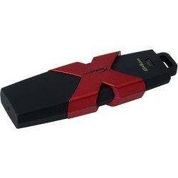 Kingston HyperX Savage 64Gb (HXS3/64GB) (черно-красный) - USB Flash driveUSB Flash drive<br>USB-накопитель объемом 64Гб, интерфейс USB 3.1, скорость записи/чтения 180/350 Мб/с.