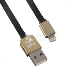 дата-кабель apple 8-pin lightning - usb для apple iphone 5, 5c, 5s, 6, 6 plus, ipad 4, air, air 2, mini 1, mini 2, mini 3 (0l-00002907) (плоский, черный)