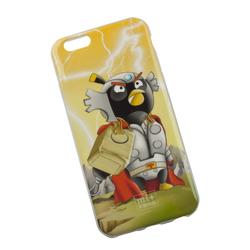 Силиконовый чехол-накладка для Apple iPhone 6, 6S (0L-00002710) (Генерал Тор Черная птица) - Чехол для телефонаЧехлы для мобильных телефонов<br>Чехол плотно облегает корпус и гарантирует надежную защиту от царапин и потертостей.