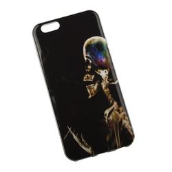 Силиконовый чехол-накладка для Apple iPhone 6, 6S (0L-00002712) (Курящий скелет) - Чехол для телефонаЧехлы для мобильных телефонов<br>Чехол плотно облегает корпус и гарантирует надежную защиту от царапин и потертостей.