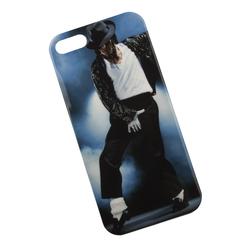 Силиконовый чехол-накладка для Apple iPhone 5, 5S, SE (0L-00002698) (Майкл Джексон) - Чехол для телефонаЧехлы для мобильных телефонов<br>Чехол плотно облегает корпус и гарантирует надежную защиту от царапин и потертостей.