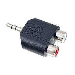 Переходник Jack 3.5 - 2хRCA (Perfeo A7012) (черный) - Кабель, разъем для акустической системыКабели и разъемы для акустических систем<br>Переходник Jack 3.5 - 2хRCA, контакты разъемов покрыты никелем, корпус переходника пластик.