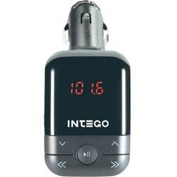 FM-трансмиттер Intego FM-110 (черный) - MP3, FM модуляторMP3 FM модуляторы<br>FM-трансмиттер представляет собой компактное устройство, считывающее музыкальные файлы с носителей информации и передающее их в FM-диапазоне. Он поможет вам сэкономить деньги на покупке новой дорогостоящей магнитолы для автомобильной аудиосистемы. Устройство работает от прикуривателя или встроенного аккумулятора.