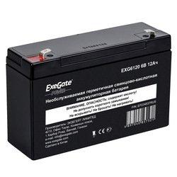 Аккумуляторная батарея Exegate EXG6120 - Батарея для ибпАккумуляторные батареи<br>Необслуживаемая герметичная свинцово-кислотная аккумуляторная батарея, номинальная емкость 12 Ач, номинальное напряжение 6 В, тип клемм: F1/F2.