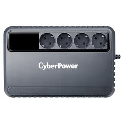 CyberPower BU1000E - Источник бесперебойного питания, ИБПИсточники бесперебойного питания<br>CyberPower BU1000E - интерактивный, 1000 ВА 600 Вт, разъемов:  4, до 3 мин