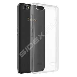 Силиконовый чехол-накладка для Huawei Honor 6 (iBox Crystal YT000007882) (прозрачный) - Чехол для телефонаЧехлы для мобильных телефонов<br>Чехол плотно облегает корпус и гарантирует надежную защиту от царапин и потертостей.
