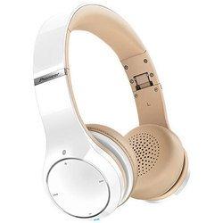 Pioneer SE-MJ771BT (белый) - НаушникиНаушники и Bluetooth-гарнитуры<br>Наушники с микрофоном, мониторные, закрытые, импеданс 32 Ом, чувствительность 105 дБ/мВт, диапазон воспроизводимых частот: 6 Гц — 28 000 Гц (при подключении по кабелю), тип микрофона: электретный конденсаторный, диапазон воспроизводимых частот: 20 Гц - 16 000 Гц, максимальная подводимая мощность: 1 000 мВт (при кабельном подключении).