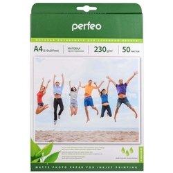 Матовая фотобумага A4 (50 листов) (Perfeo PF-MTA4-230/50) - БумагаОбычная, фотобумага, термобумага для принтеров<br>Фотобумага предназначена для высококачественной печати.