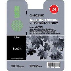 Картридж для Canon S200, S200x, S300, S330, S330 Photo, i250, i320, i350, i450, i455, i470D, i475D, MP110, MP130, MP360, MP370, MP390, MPC190, MPC200 Photo, iP1000, iP1500, iP2000 (Cactus CS-BCI24BK) (черный) - Картридж для принтера, МФУКартриджи<br>Совместим с моделями: Canon BJ S330, i 250, 255, 320, 350, 355, 450, 455, 470, 475, imageClass MP360, MP370, MP390, MPC190, MPC200, MultiPass C190, C200, F20, MP360, MP370, Pixma iP 1000, 1500, 2000, Pixma MP110, 130, 410, 430, Pixus 320, 320i, 455, 455i, 475, MP10, MP360, MP370, MP375,MP390, MP5, S 200, 300, 330 Phot, SmartBase 360 MUlt iP aSS, 370 MUlt iP aSS, 390 MUlt iP aSS, MP360, MP360S, MP370, MP375, MP390, MPC190, MPC200