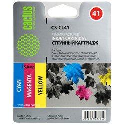 Картридж для Canon Pixma iP 1200, 1300, 1600, 1700, 1800, 1900, 2200, 2500, 2600 (Cactus CS-CL41) (трехцветный) - Картридж для принтера, МФУ