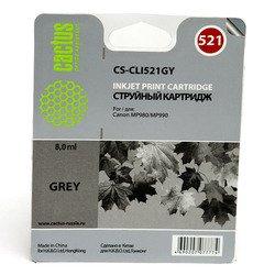 Картридж для Canon Pixma MP980, MP990 (Cactus CS-CLI521GY) (серый) - Картридж для принтера, МФУ