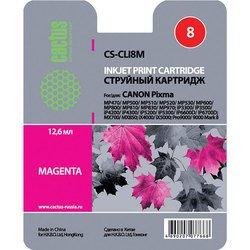 Картридж для Canon Pixma iP 4200, 4300, 4500, 5200, 5300, 6600, 6700, Pixma MP500, 530, 600, 610, 800, 810, 830, 950, 960, 970, MX850, Pixma Pro 9000 (Cactus CS-CLI8M) (пурпурный) - Картридж для принтера, МФУ