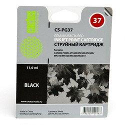 Картридж для Canon Pixma iP1800, iP1900, iP2500, iP2600, MP140, MP190, MP210, MP220, MP470, MX300, MX310 (Cactus CS-PG37) (черный) - Картридж для принтера, МФУ