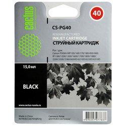 Картридж для Canon Fax JX200, JX210, JX210P, JX500, JX510, JX510P, Pixma iP 1200, 1300, 1600 (Cactus CS-PG40) (черный) - Картридж для принтера, МФУ