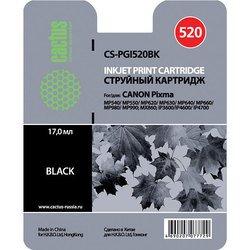 Картридж для Canon Pixma iP 3600, 4600, 4700, MP540, 550, 560, 620, 630, 640, 660, 980, 990  MX860, 870 (Cactus CS-PGI520BK) (черный) - Картридж для принтера, МФУ