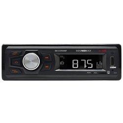 Soundmax SM-CCR3056F - АвтомагнитолаАвтомагнитолы<br>Автомагнитола, 1DIN, USB-проигрыватель, USB, карты памяти, усилитель 4x40 Вт, экран монохромный.