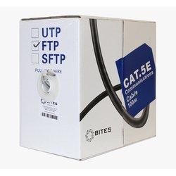 Витая пара FTP 5e 100м (5bites FS5505-100A) - КабельСетевые аксессуары<br>Фольгированная витая пара FTP, категория: 5e, для прокладки внутри помещений, материал проводника: CCA, материал оболочки: PVC, длина 100 м.