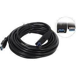 Кабель-адаптер USB Am-Af (VCOM CU827) (черный) - КабелиUSB-, HDMI-кабели, переходники<br>Кабель-адаптер удлинительный USB Am-Af, интерфейс USB 3.0, длина 5 м.