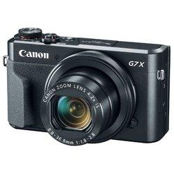 Canon PowerShot G7X Mark II (черный) - Фотоаппарат цифровойЦифровые фотоаппараты<br>20.90 МП, 1, Zoom: 4.20х, RAW, Wi-Fi, до 8 к/с, видео до 1920x1080, 294 г.