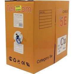 Кабель TELECOM CU PRO UTP 4 пары кат. 5e (305м) - КабельСетевые аксессуары<br>Кабель витая пара UTP (неэкранированный), категория 5e, материал проводника: медь, длина 305м.