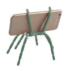 Универсальный держатель для смартфона Паук (0L-00002488) (зеленый) - Док станцияДок-станции<br>Универсальный держатель в форме паука позволяет закрепить Ваше устройство практически на любой поверхности и под любым углом.