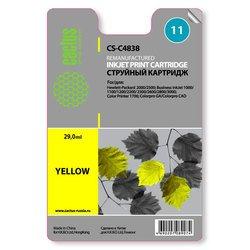 Картридж для HP Business Inkjet 1000, 1100, 1200, 2200, 2230, 2250, 2280, 2300, 2600, 2800 Series (Cactus CS-C4838) (желтый) - Картридж для принтера, МФУ