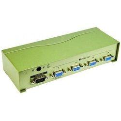 Разветвитель VGA - 4xVGA + блок питания (VCOM VDS8016) - Кабель, переходникКабели, шлейфы<br>4-х портовый видеосплиттер, в комплекте блок питания.
