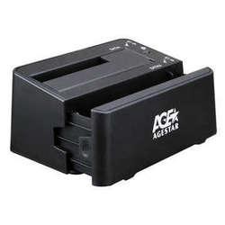 AgeStar 3UBT3-6G (черный) - Корпус, док-станция для жесткого дискаКорпуса и док-станции для жестких дисков<br>Док-станция 3UBT3 подключается к компьютеру или ноутбуку через высокоскоростной интерфейс USB 3.0. Она поддерживает одновременную работу двух 2.5quot;/3.5quot; SATA HDD/SSD.