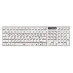 Oklick 556S White USB - Мышь, клавиатура для компьютера и планшетаКлавиатуры, мыши, комплекты<br>Проводная slim клавиатура, интерфейс USB, мультимедийные дополнительные клавиши, цифровой блок.