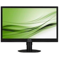 Philips 241S4LCS(B) (черный) - МониторМониторы<br>ЖК-монитор с диагональю 24quot; , тип ЖК-матрицы TFT TN, разрешение 1920x1080 (16:9), светодиодная (LED) подсветка, подключение:  VGA, DVI, яркость 250 кд/м2, контрастность 1000:1