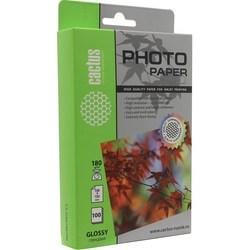 Фотобумага глянцевая 10x15 (100 листов) (Cactus CS-GA6180100E) - БумагаОбычная, фотобумага, термобумага для принтеров<br>Односторонняя глянцевая фотобумага для струйной печати цифровых фотографий с максимальным разрешением, 100 листов, плотность 180 г/м2.