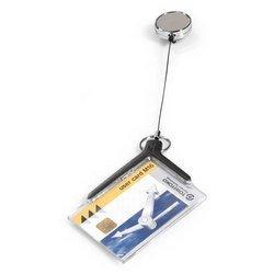 Держатель для пропуска Durable 8307-58 CARD HOLDER DELUXE PRO 54х85мм серый (упак.:10шт) - Бейдж, аксесcуарБейджи и аксесcуары к ним<br>Вес (кг) 0.528, Объем (м3) 0.00247