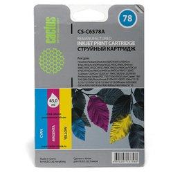 Картридж для HP DJ 916c, 920,  930, 932c, 935c, 940, 950, 952c, 959, 960, 970, 980, 990 (Cactus CS-C6578A) (цветной) - Картридж для принтера, МФУ
