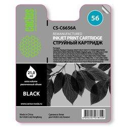 Картридж для HP DeskJet 450, 5145, 5150, 5151, 5550, 5552, 5650, 5652, 5655,  5850, 9650, 9670, 9680, DigitalCopier 410, OfficeJet 4105, 4110, 4212, 4215, 4219, 4252, 4255, 5505, 5510, 5515, 5605 (Cactus CS-C6656A) (черный) - Картридж для принтера, МФУ