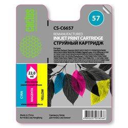 Картридж для HP 450, 5145, 5150, 5151, 5550, 5552, 5650, 5652, 565 (Cactus CS-C6657) (трехцветный) - Картридж для принтера, МФУ